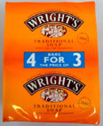 Wright's Traditional Soap<br />  (4 x 125 g bars)