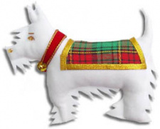 Scottie Dog - White