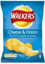 (Crisps) Walkers: Cheese & Onion (34.5 g)